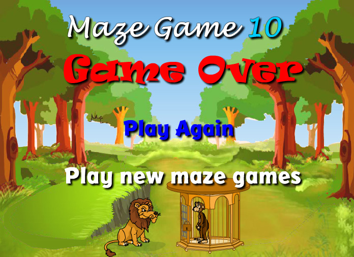 Scary Maze Game 10 - Game Over