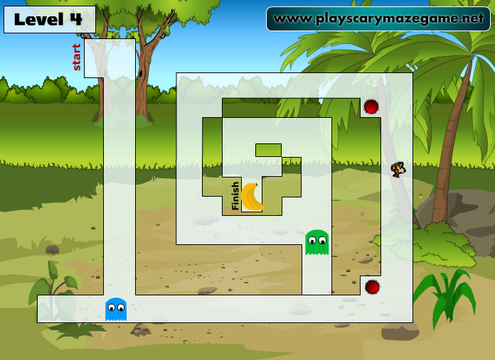 Level 4 - Scary Maze Game 10